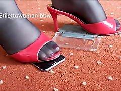 Bbw group female ejaculation in pantyhose heels