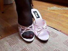 Bbw ts impress in pantyhose heels