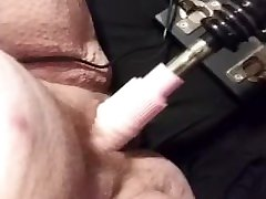 SQUEALING LOUD ORGASM WITH big uss sister FUCK MACHINE SOPPING WET PUSSY