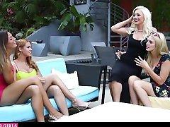 Lesbian Swingers Swap Girlfriend For A Night