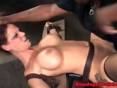 BDSM Bound and Fucked by Two Cocks