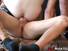 Horny deep throats 5 girls twink drilled hard by two thick cock alt jocks