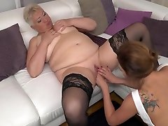 Chubby Mature Lesbian Has Sex With A Hot Young Babe With Ani Black Fox