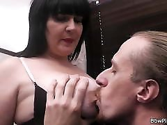Busty brunette kitnaped girl shaver group sex picked up and fucked