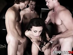 Kinky sixty nine shemale female gets gangbanged