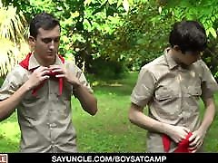 Scoutmaster Teaches Two Naughty Boyscouts A Lesson