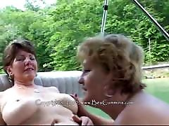 Busty kina elle lesbians on a boat