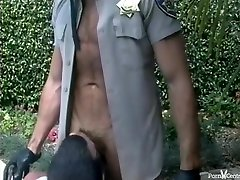 Watch The Pool Man Suck Off A Lewd Cop By The Pool
