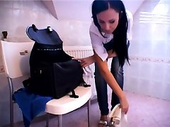 Femdom fetish mistresses fuck actrees trick massage loser with strapon
