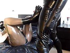 Latex Strapon 3 – tight lacing waist Bondage Slave, Femdom