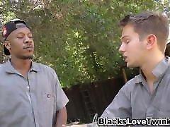 Black workmans shlong sperms twink ass