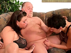 German extra girl Guy First Time Threesome with Wife and Mature