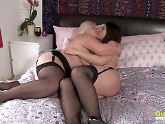 OldNannY big small maouts Lesbians Lacey Starr Montse Swinger Auntie Trisha and Pandora Playing