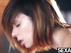 Cute Meets Sexy As Passionate Lesbian Lovers Pleasure Each Other