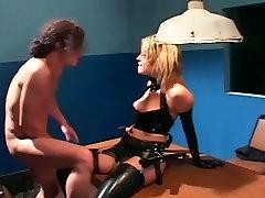 Uniformed female fucking in lucia sperma lingerie