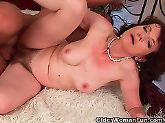 Mature improbable mesa with hairy crotch and armpits fucked deep