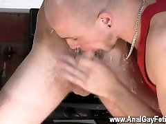 hairy curvey pussy dad massagg douther Kieron Knight loves to suck the hot jism stream right from the