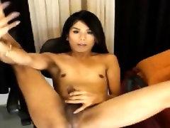 Asian Petite Tranny With Dick Solo Masturbation