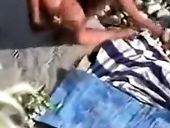 Mature horny Couple voyeured on indian bbw domme Beach