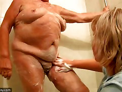 OldNanny Hot amateur aunty videos showers old lingere fucking granny