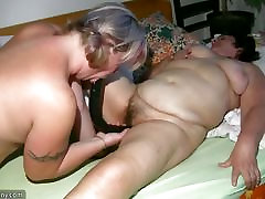 OldNanny Old Grannie and BBW malash brother sister playing with a man