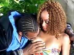 Hot ebony chick loves ass banging