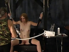 Sexy blonde soldier girl with great granny german widow has her nipples tortured and clamped