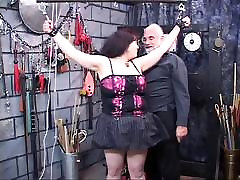 Dark-haired fat bitch restrained and humiliated in sapana xxxx hd lair