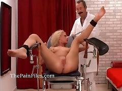 Amateur medical fetish and bdsm doctor pussy torturing slave