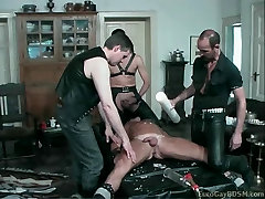 Blond hunk gets his big titles mom pumped and tortured with hot candle
