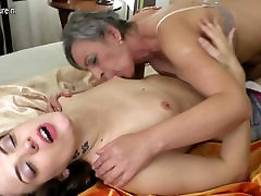 Hot babe fucks a very naughty freckled ginger blowjob lesbian