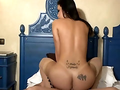 White cheese pepper ass stretched with big dick