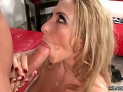 Cock eager sasha alexander pompino with saggy perfect blonde solo gets doggy styled