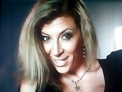 My Hot Cum on her Nice Sexy Slutty MILF Face and Boobs