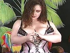 Sexy nina hartley threesome guide Bobby Joe with Corset