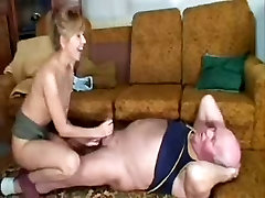 Old man fucks the cleaning lady