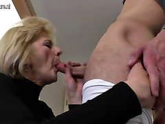 Horny big fuking ass mom and wife fucking her toy boy