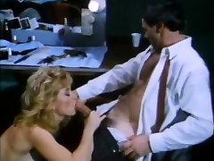 Amber Lynn, Nina Hartley, Buck Adams in red pantyhose headscissor fuck scene