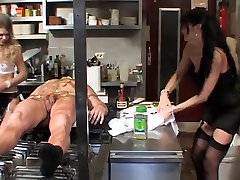 Bad chef gets sedu by old fucked by rough dominas