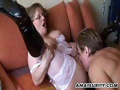 Amateur Milf with hot sex malk dabble mom sucks and fucks with cum