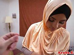 Forbidden arab habiba cumsprayed in mouth