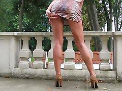 walking in Hih-Hels with long Legs