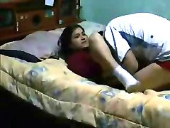 Agile latina student caught on spy cam