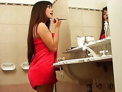 Horny two in the bathroom