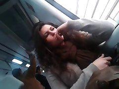 horny girl on train