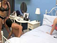 MALE GETS PEGGED BY TWO DOMINATES GIRLS DO TO CHEATING