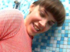hot teen in the bathroom