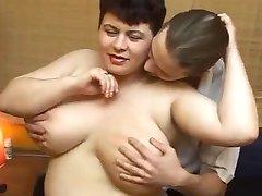 rusian bbw swallows the load