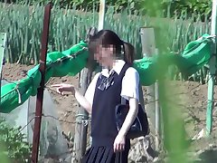 Erotic Voyeurism - Turn up the skirt of the girl student