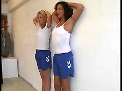 PE Lesson - 2 girls punished hard